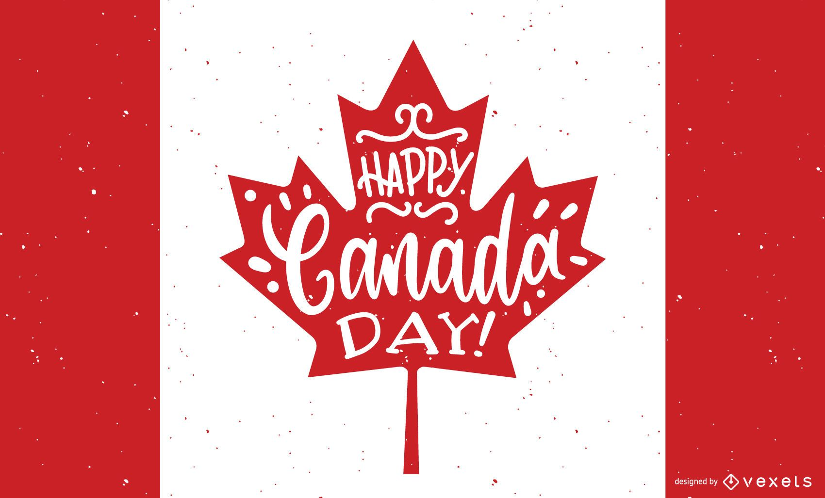 Happy Canada Day Background Design