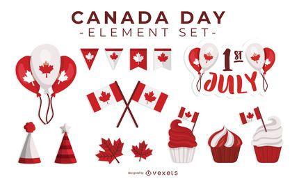 Día de Canadá Día de elementos