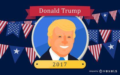 El presidente de los Estados Unidos, Donald Trump, de dibujos animados