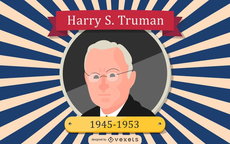 Harry S. Truman Cartoon Illustration