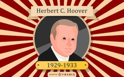 Herbert C. Hoover-Karikatur-Illustration
