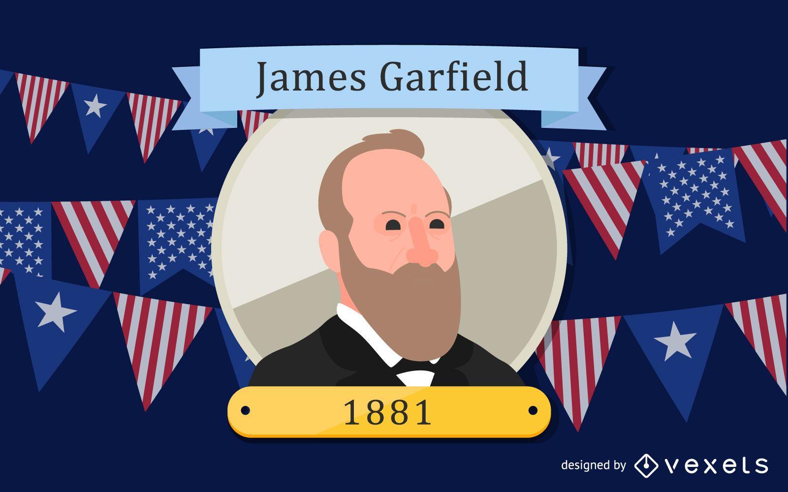 James Garfield Ilustracao Dos Desenhos Animados Baixar Vector