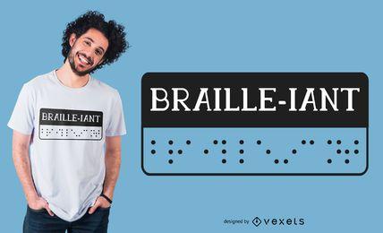 Design de t-shirt em braille