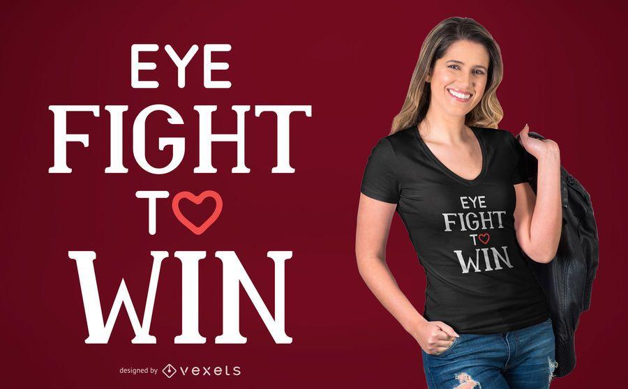 Diseño de camiseta de lucha ocular.