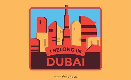 Diseño de etiqueta de Dubai