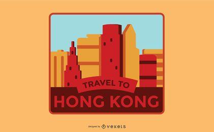 Design de etiquetas de Hong Kong
