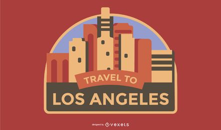 Viajar para Los Angeles Badge
