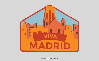Viva Madrid Badge Vector
