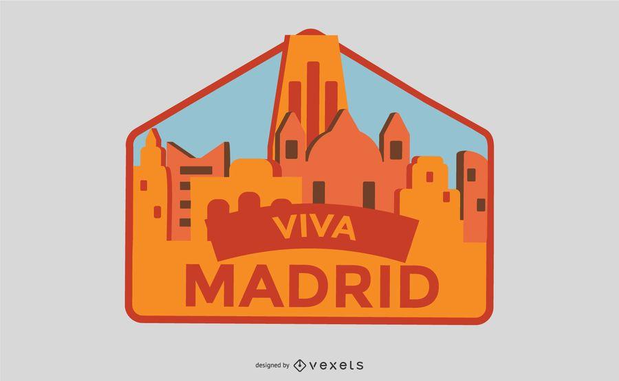 Viva Madrid Badge Vector