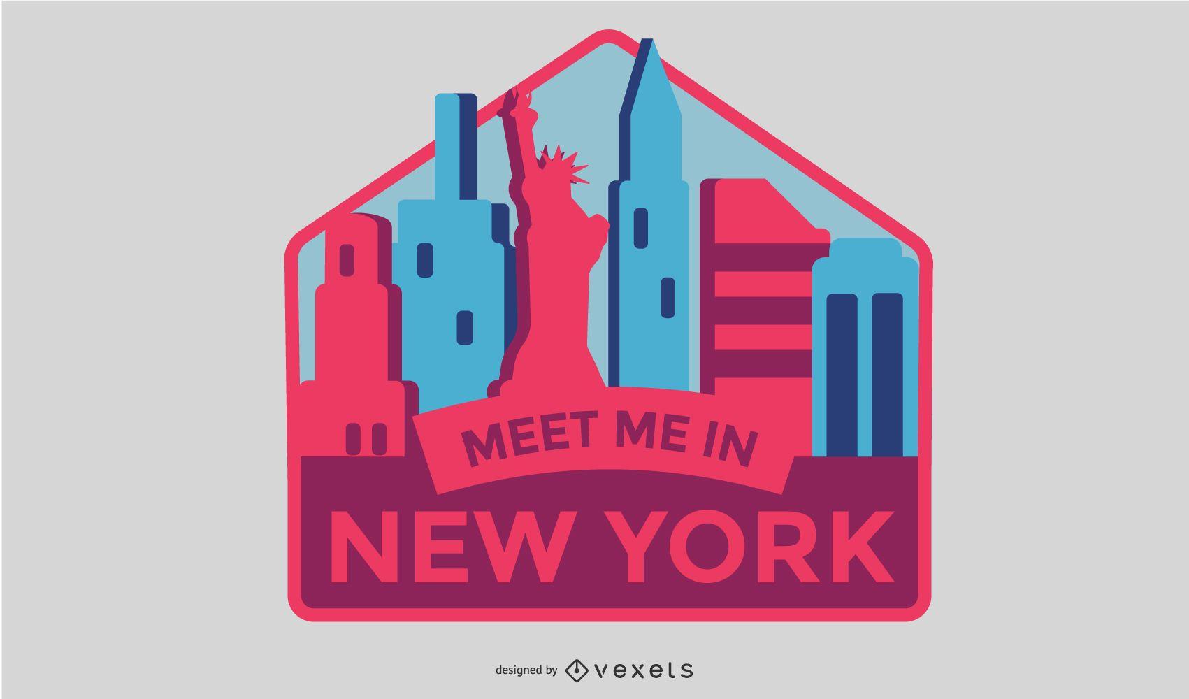 New York Badge Vector Design