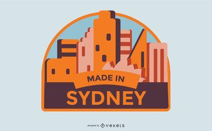 Hecho en diseño de etiqueta de Sydney