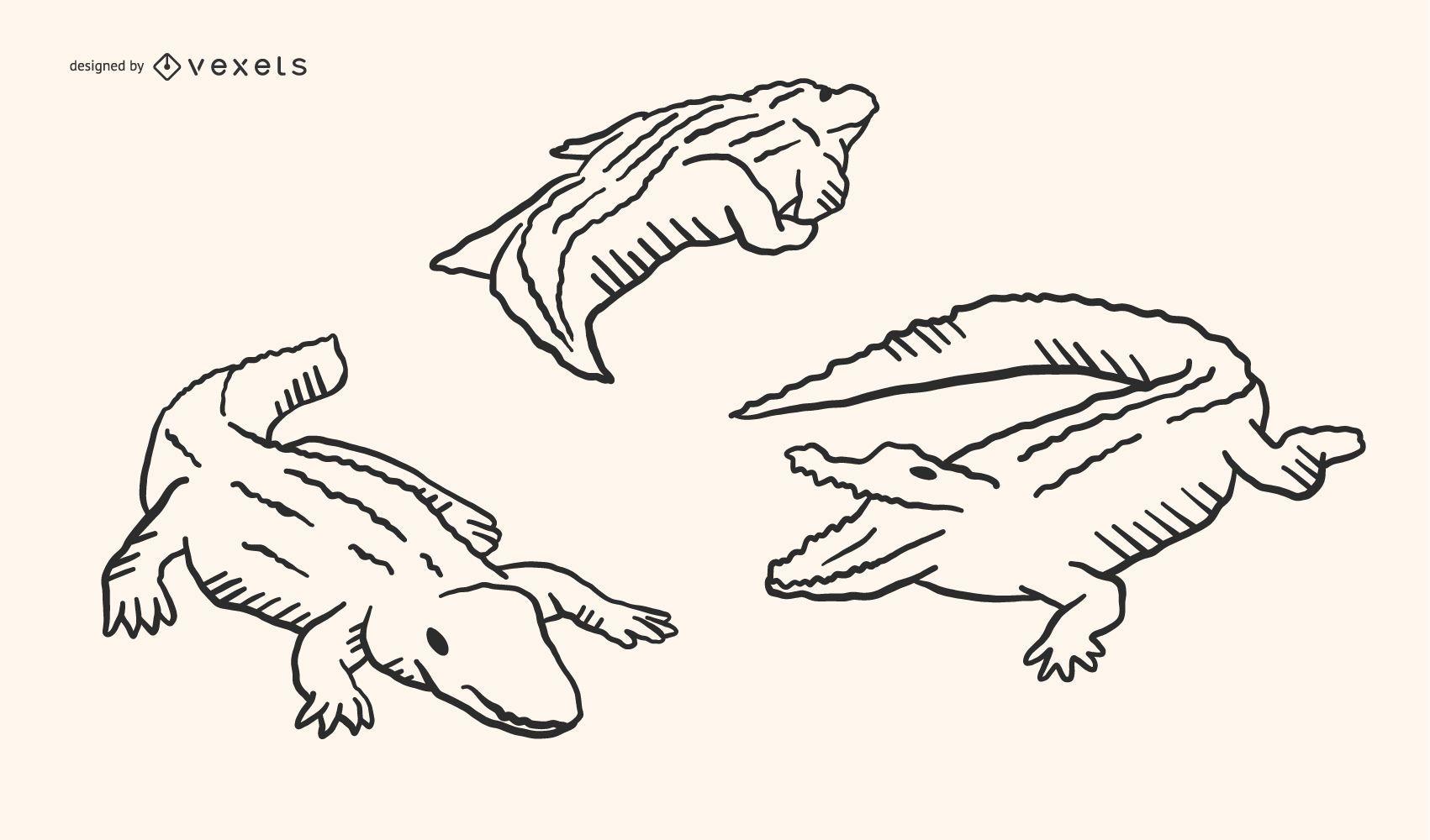 Alligator Doodle Design
