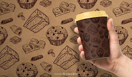 Diseño de patrón de chocolate