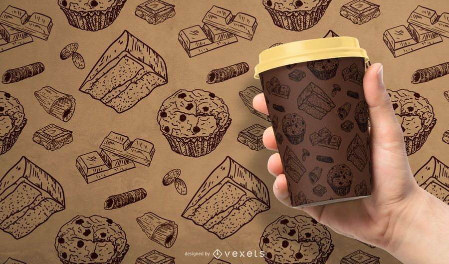Design padrão de chocolate