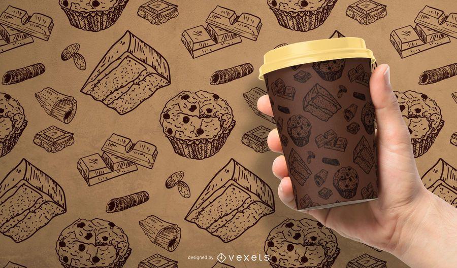Schokoladenmuster Design