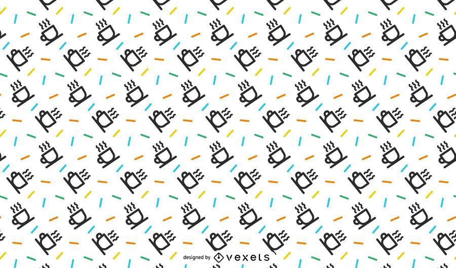 Design de padrão de canecas minimalista