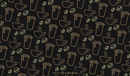 Patrón de café simple