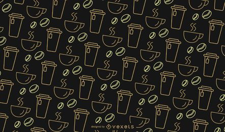Simple coffee pattern