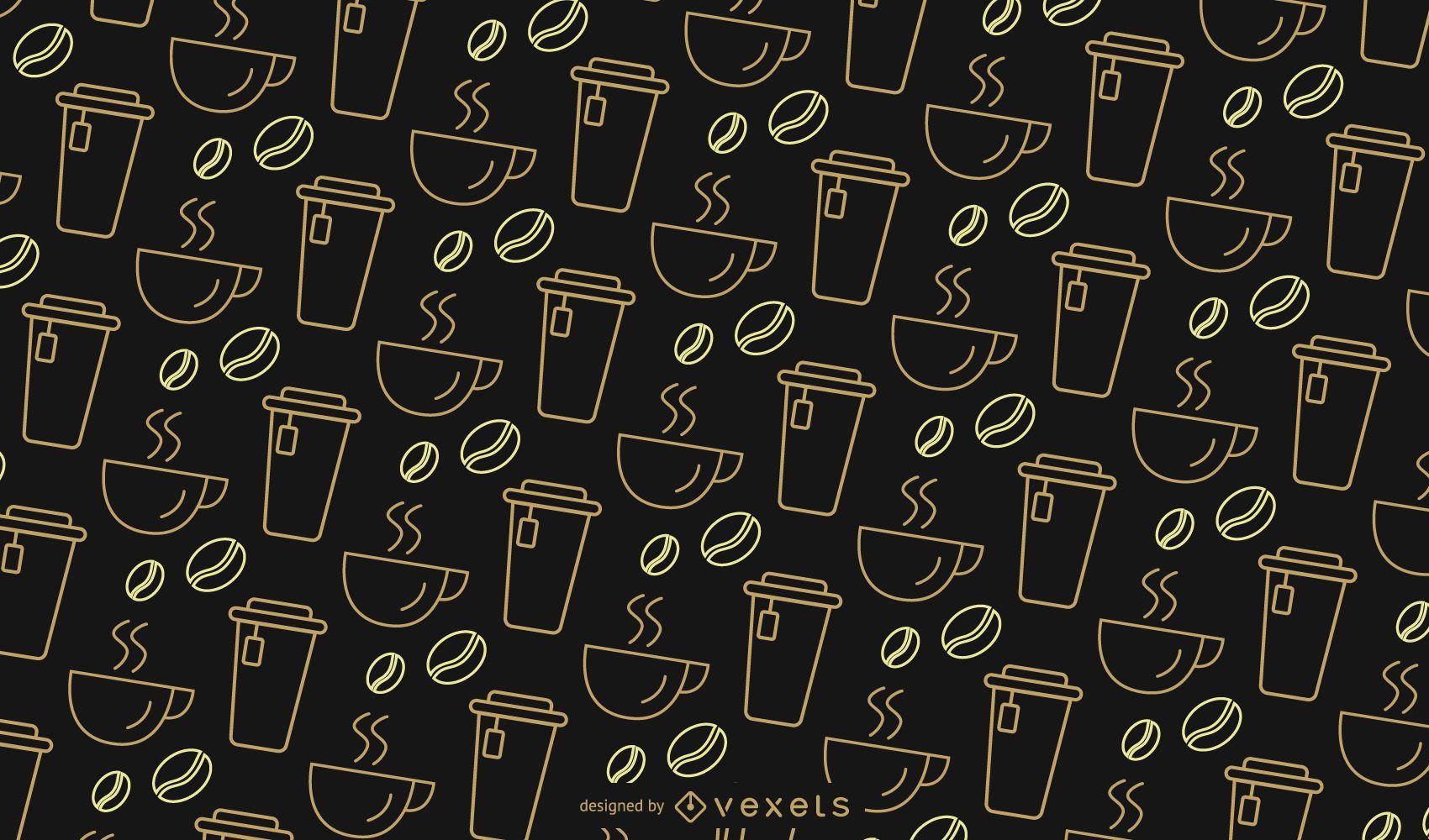 Simple coffee pattern