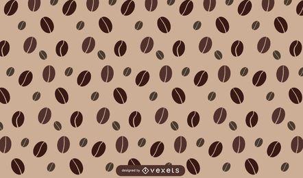Desenho de padrão de grãos de café