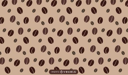 Kaffeebohne Musterdesign