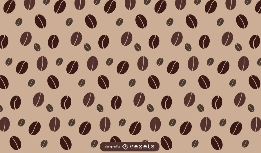 Coffee bean pattern design