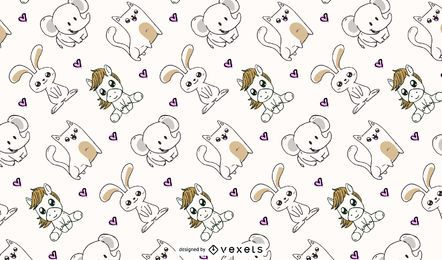 cute animals pattern design