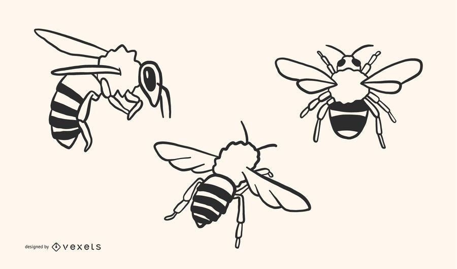 Bee Doodle Vector Design