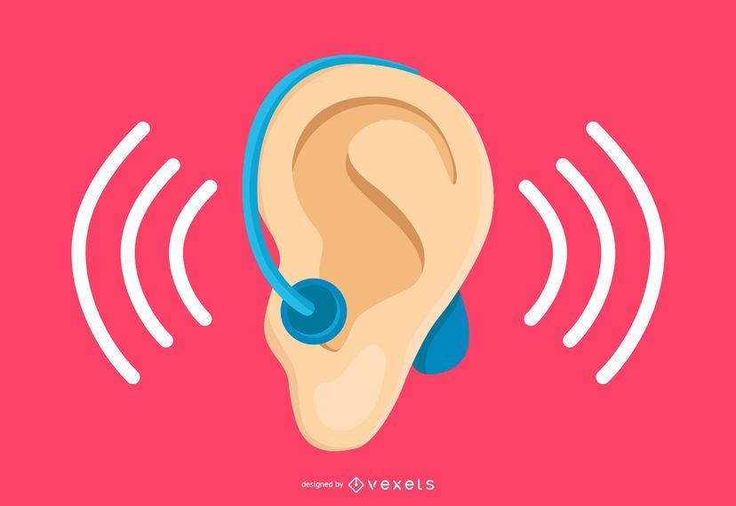 Diseño minimalista de la comunidad sorda.