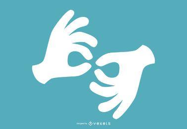 diseño de lenguaje de señas