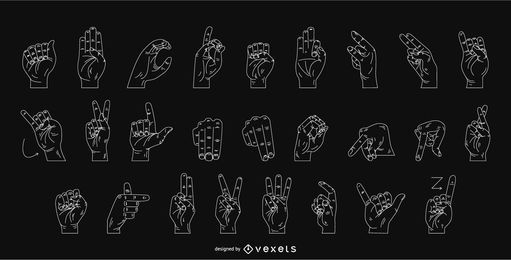 diseño gráfico de lenguaje de señas