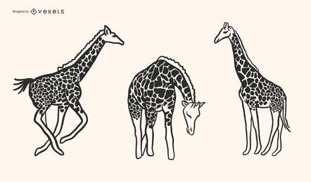 Giraffe Doodle Style Vector Design