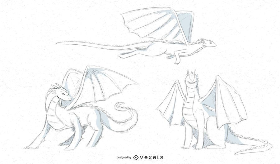 dragon sketch designs