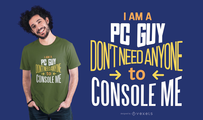Diseño de camiseta PC Guy