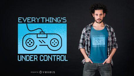 Sob o projeto do t-shirt do controle