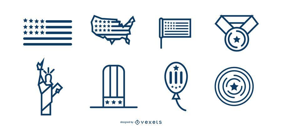 diseños de etiquetas del día de la independencia
