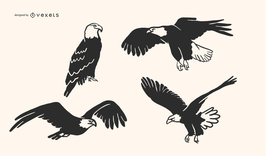 Eagle Doodle Vector Collection