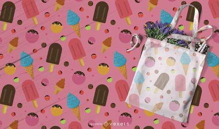 Diseño de patrón de helado