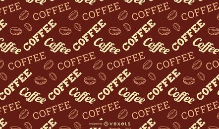 Coffee Lettering Pattern Design