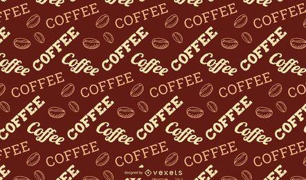 Kaffee-Schriftzug-Muster-Design