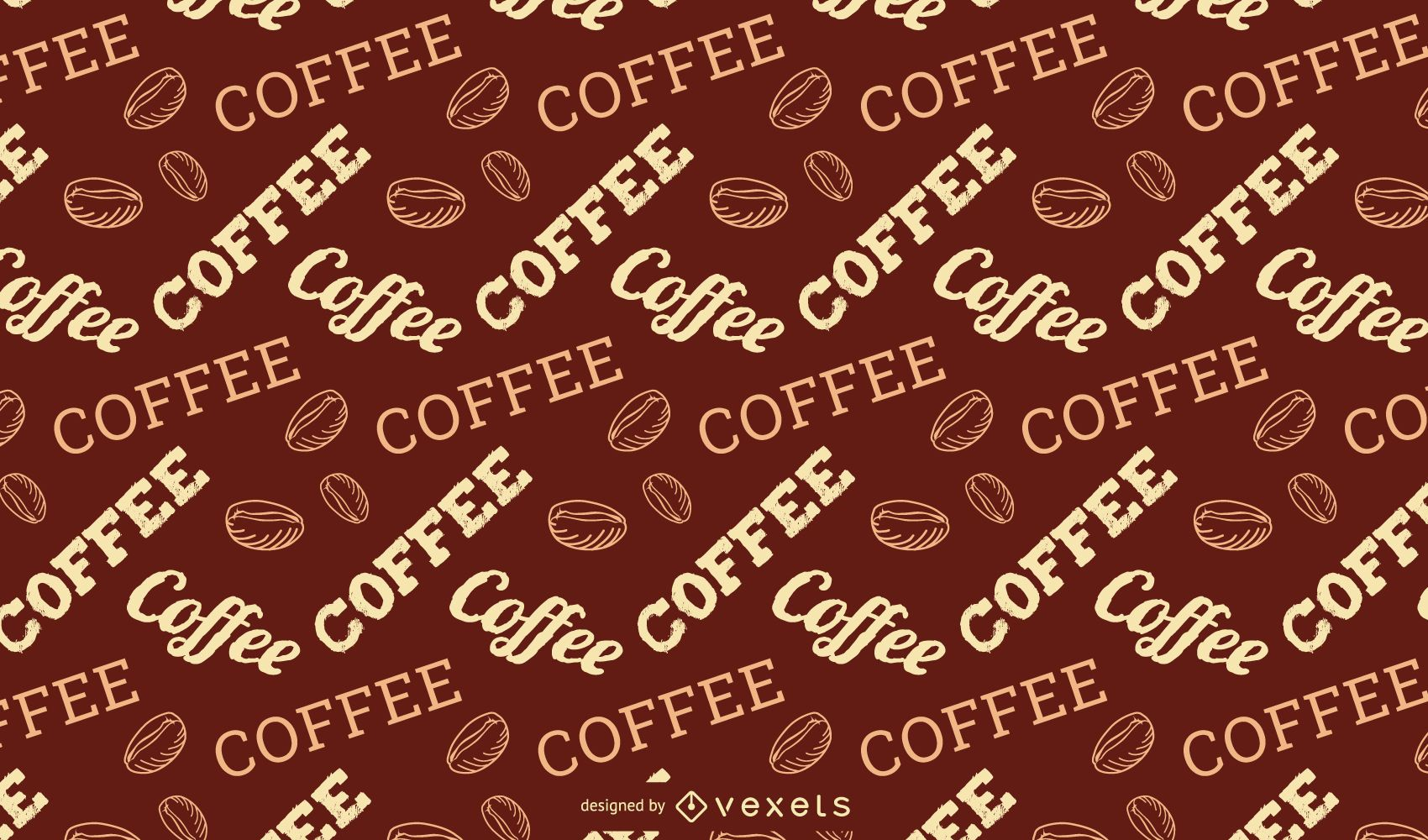 Coffee Lettering Pattern Design