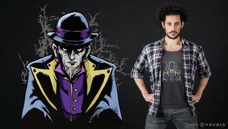 Projeto escuro do t-shirt do mago