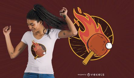 Diseño de camiseta de ping pong