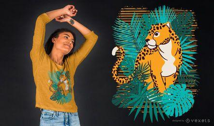Dschungel-Jaguar-T-Shirt Entwurf