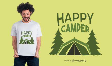 Diseño de camiseta de camping exterior.