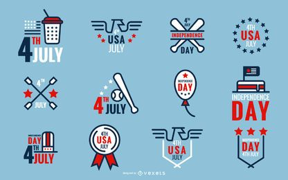 4 de julho ícones