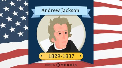 Präsident Andrew Jackson Design