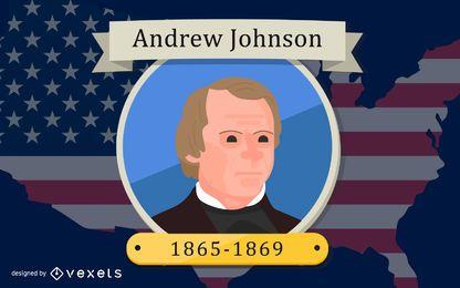 Präsident Andrew Johnson Design