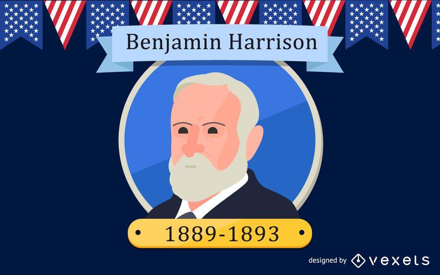 President Benjamin Harrison Design