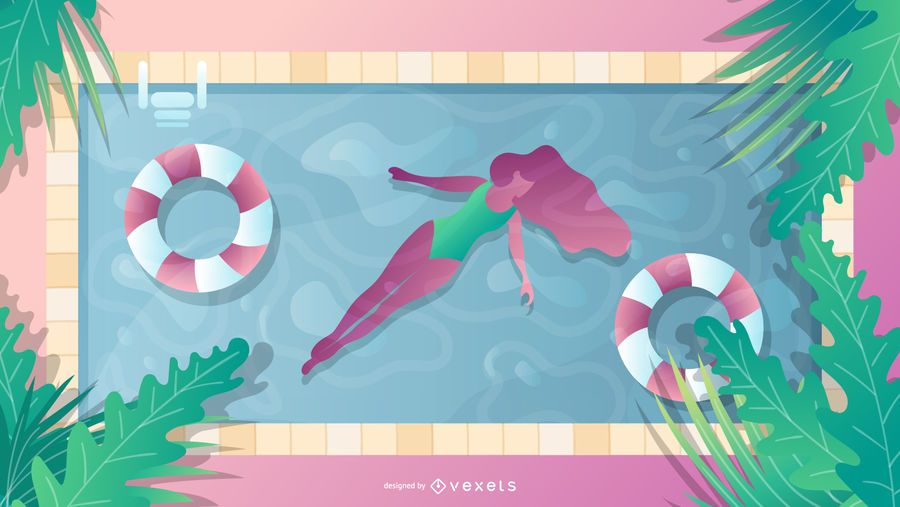 Summertime pool design